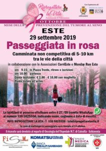 Passeggiata in rosa 29 Settembre 2019
